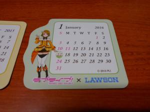 ローソン ラブライブ マグネットカレンダー