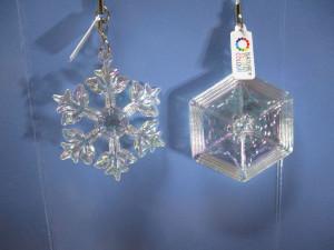 ガチャガチャ 雪の結晶 ストラップ